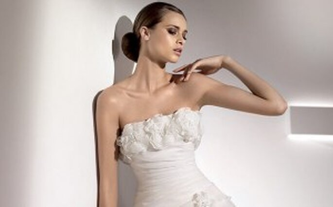 Pronovias wedding dresses with flowers