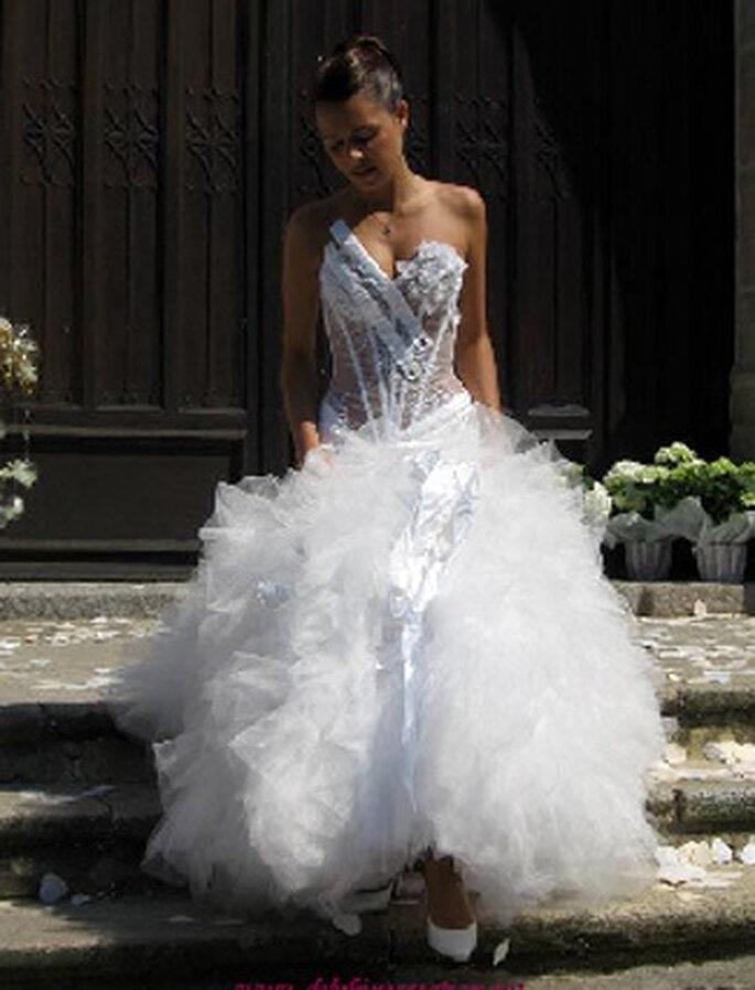 Robe de mariée de la semaine : Delphine Pinel Création