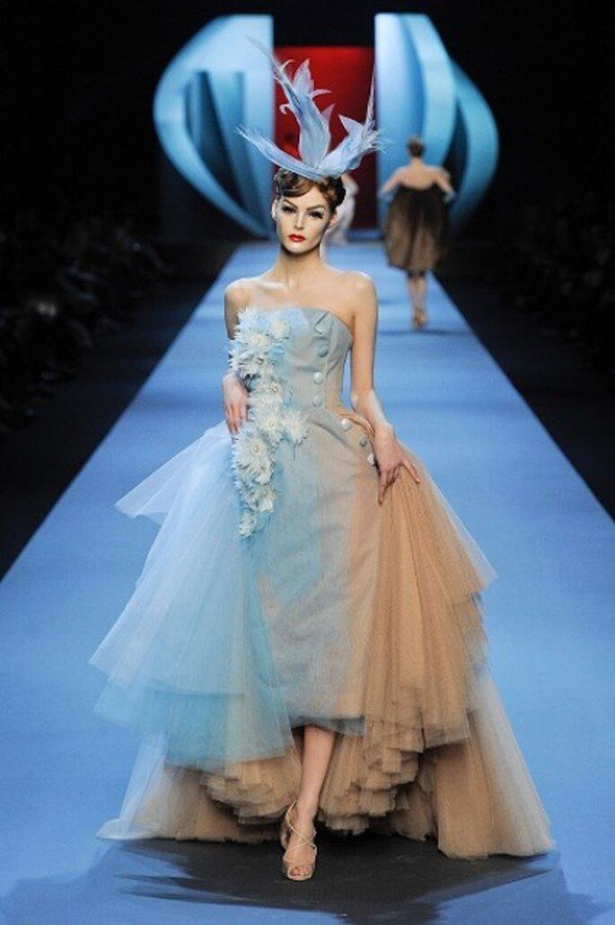 Vestido de novia azul de Christian Dior