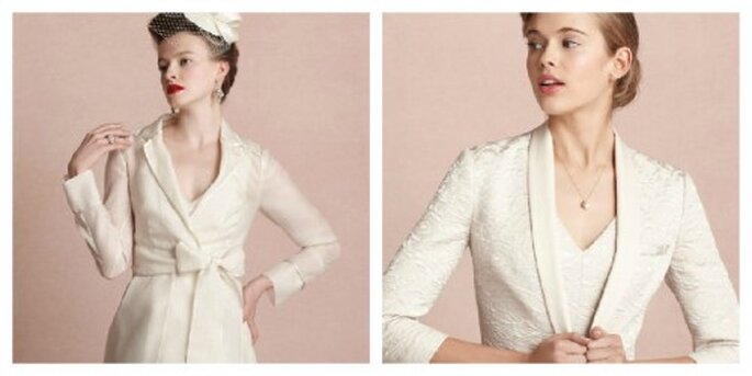 Manteau et blazer au top pour une mariée d'hiver – Photo: bhldn