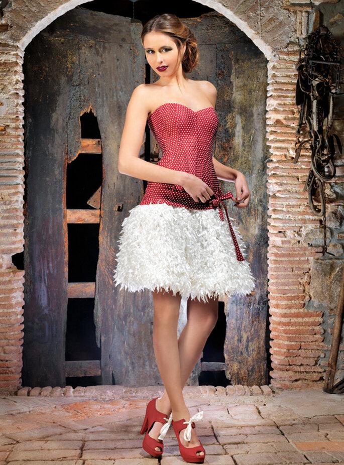 Vestido de novia Boro de Jordi Dalmau. Foto: www.jordidalmau.com