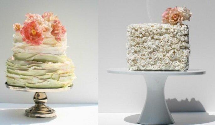 Pasteles para boda. Foto del sitio de Maggie Austin.