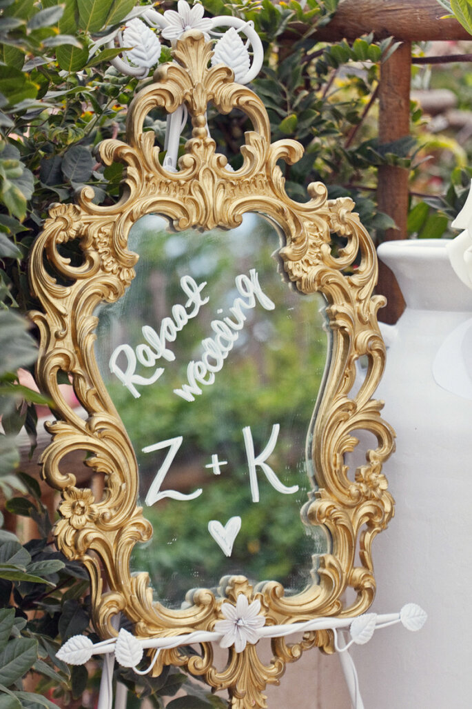 Espejos para la decoración de tu boda - Shewanders Photography