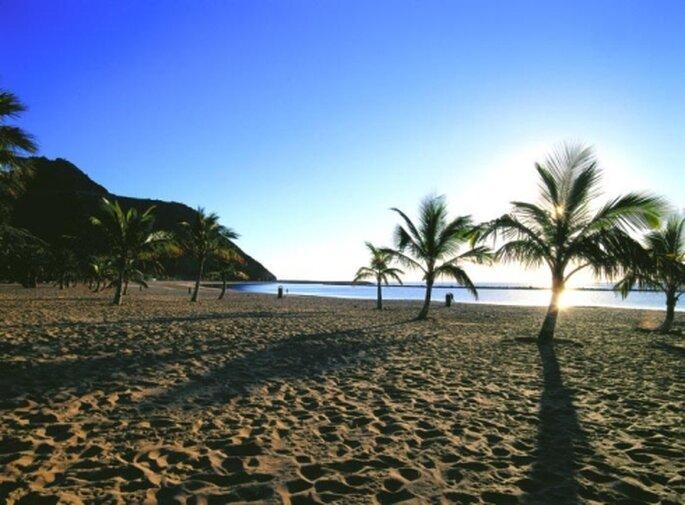 Puesta de sol en las playas de Tenerife.