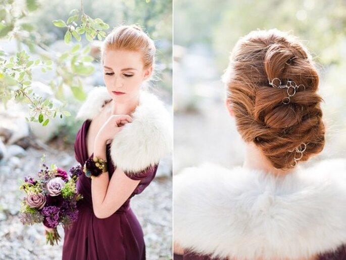 Vestidos en color púrpura para tus damas de boda - Foto Candice Benjamin