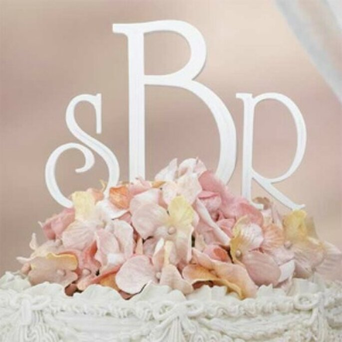 Cake toppers version monogramme
