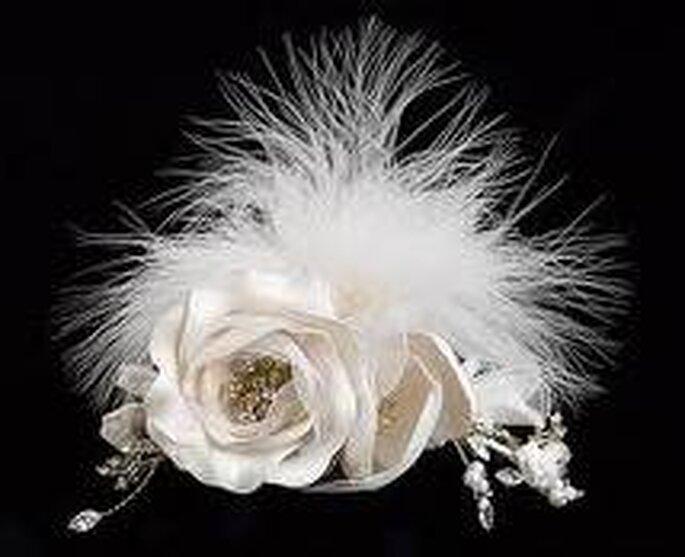 Rosas y plumas para novias