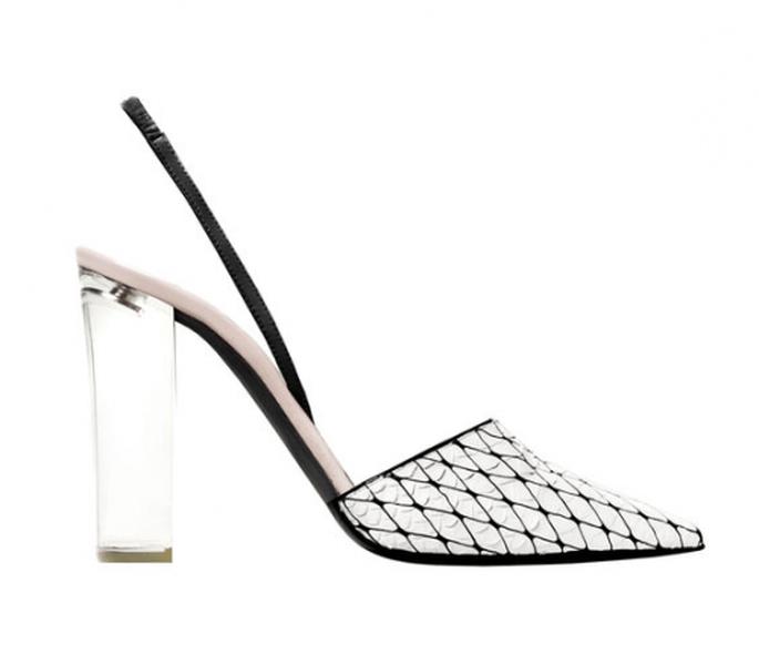 Transparencias como tendencia en zapatos de novia 2014 - Foto Narciso Rodríguez