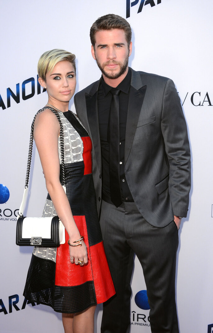 Miley Cyrus e Liam Hemsworth.