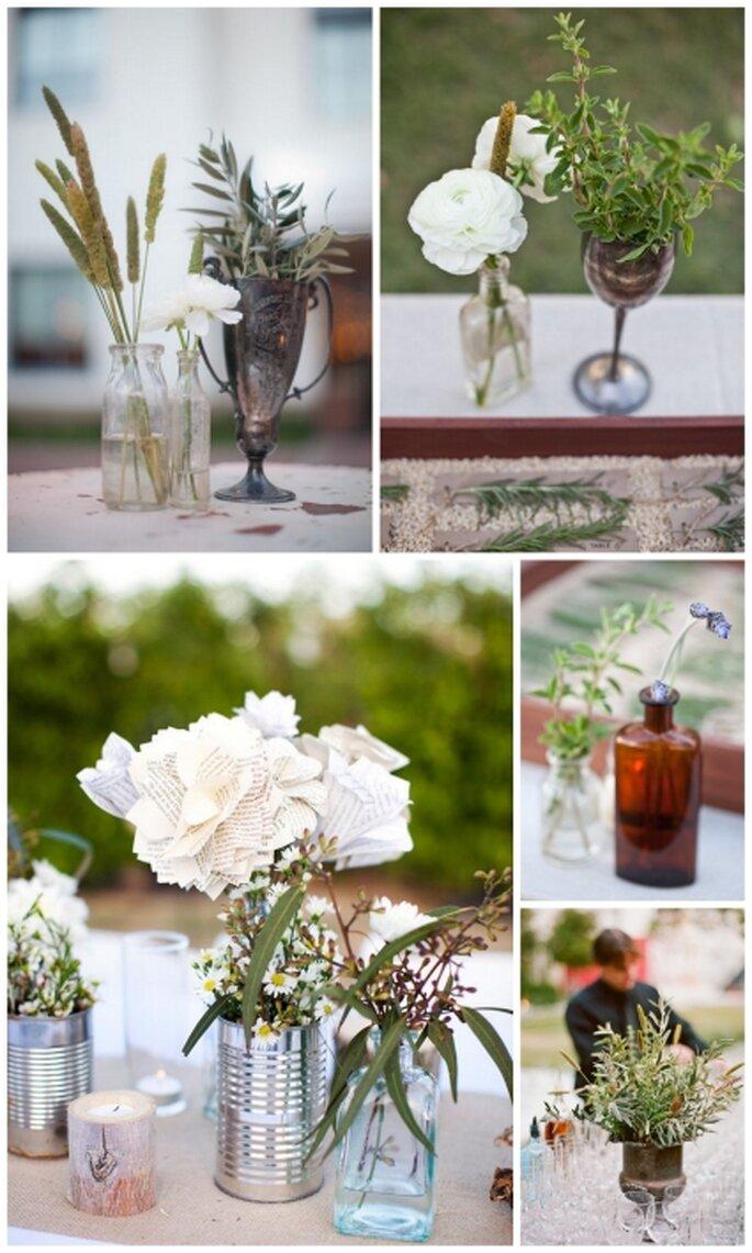 Die Green Wedding-Deko ist einfach und dennoch bezaubernd – Foto: Stylemepretty
