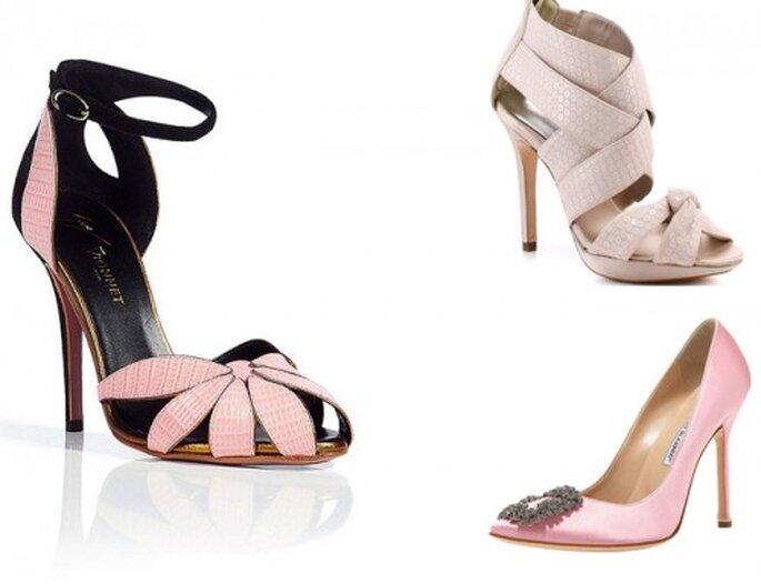 Chaussures de mariée 2013 : 5 tendances - Vionnet et Manolo Blanhik