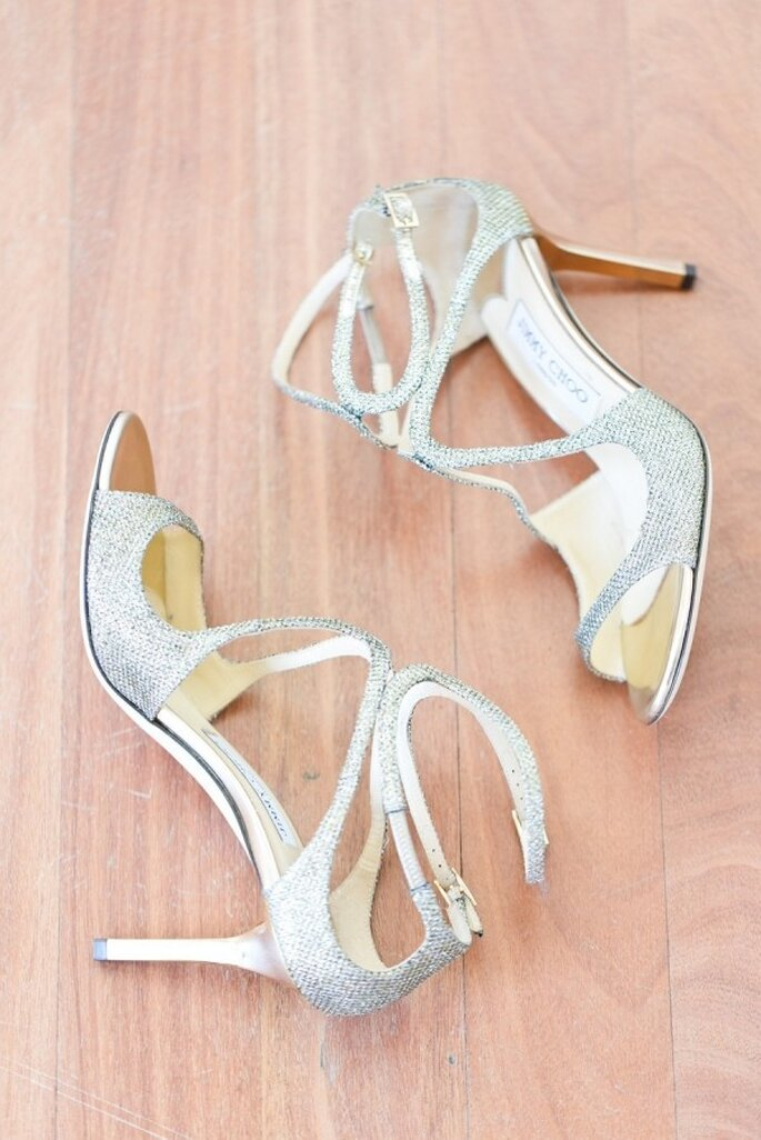 Zapatos de novia con aplicaciones y brillos - Cassi Claire