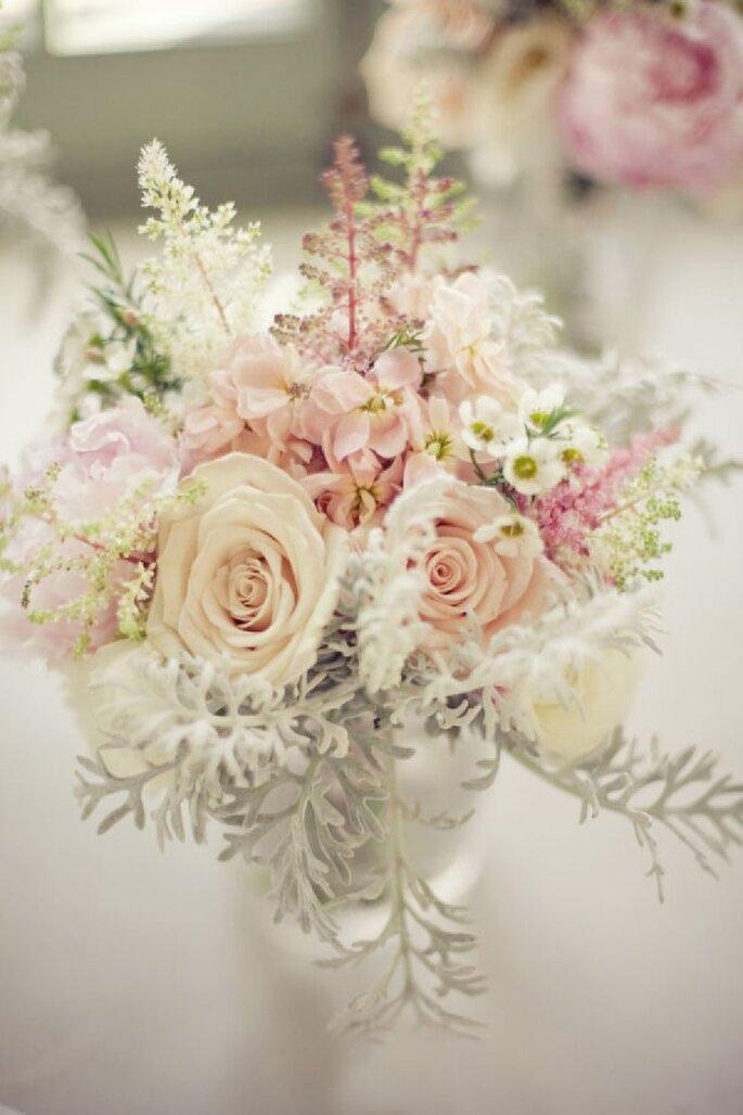 La mejor inspiración para decorar tu boda con el color rosa pastel - Foto The Nichols