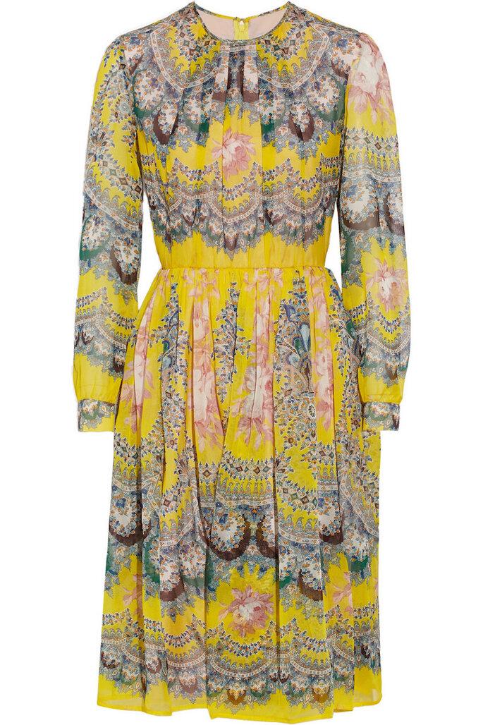 Vestidos de fiesta con estampados coloridos inspirados en los años 70 - MSGM en Net a Porter