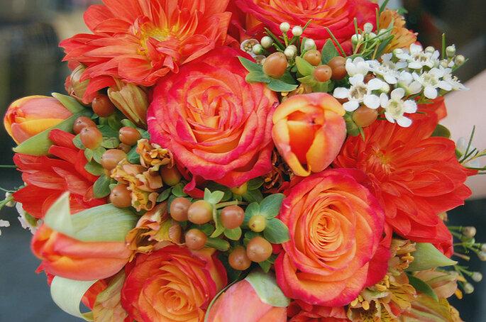 Flores en tonos brillantes. Foto: Flower Factor