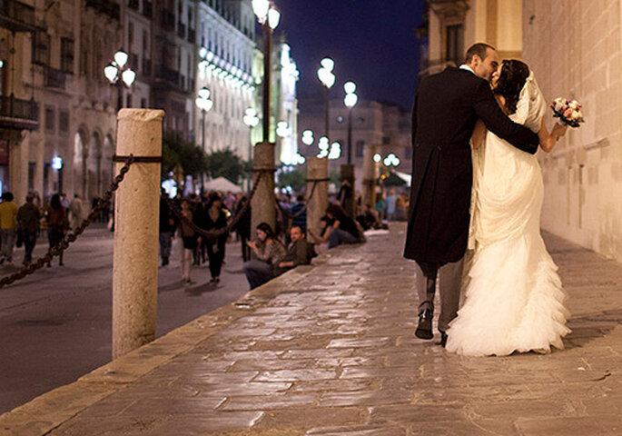 Una boda urbana en el centro de Sevilla. Foto: Evenpic