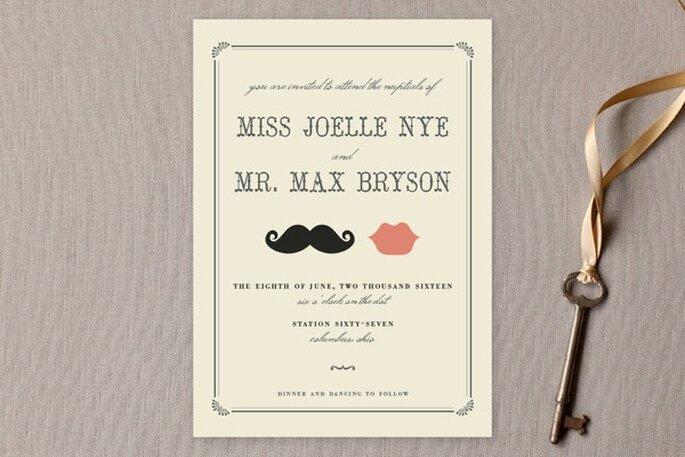 Diseños originales y divertidos para invitaciones de boda - Foto Minted