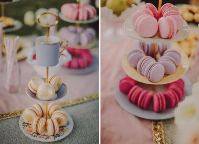 Macarons como postre para tu boda - Foto David Robertson