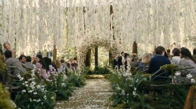 """Escenario boda película La Saga """"Crepúsculo"""". Productora Summint Entertaiment."""