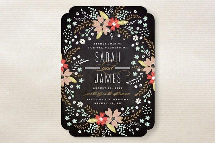 Diseños originales para invitaciones de boda - Foto Minted