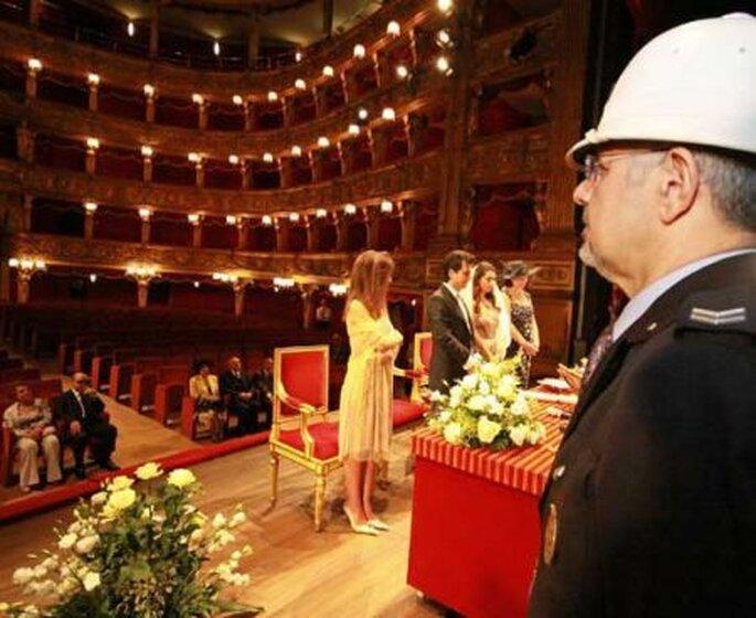 ¿La última tendencia? Casarse en un teatro- Foto: pourfemme.it