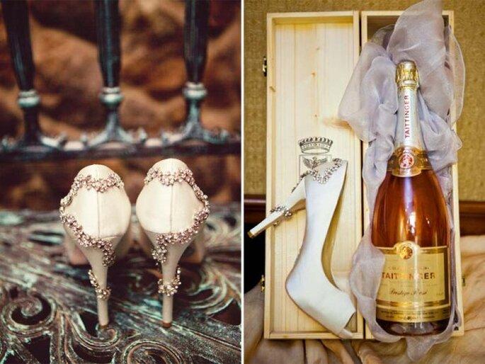 Zapatos de novia con brillos y aplicaciones - Foto Concept Photography