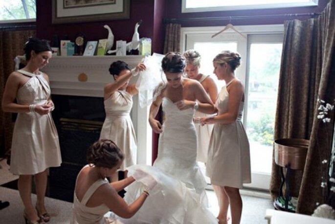 Moda y belleza para novias. Foto de Jen Lynne.