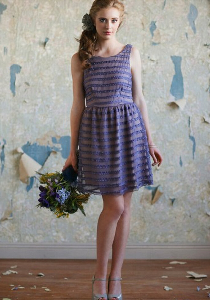 Vestido corto en tonos morado para ir a una boda - Foto: Ruche