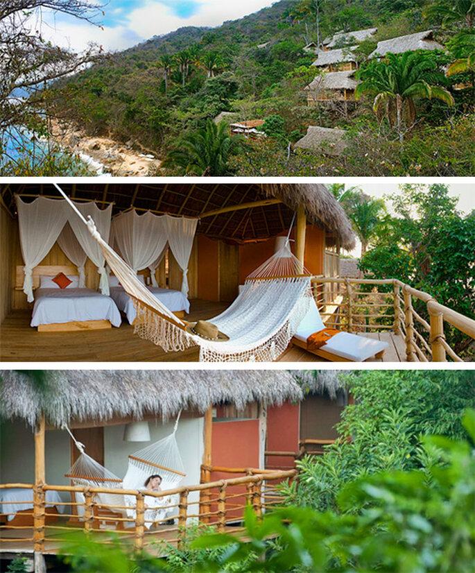 Habitaciones al aire libre rodeadas de jungla y playa - Foto: Xinalani