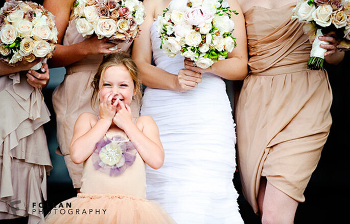 Fórmulas para disfrutar a los invitados más pequeños en tu boda - Foto Follan Photography