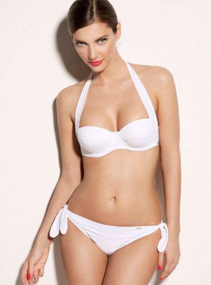 Bikini estilo vintage en color blanco - Foto Boux Avenue