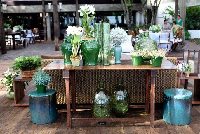 El color verde tiene todo que ver con este estilo y combina perfectamente. Foto de Boutique de Tres.
