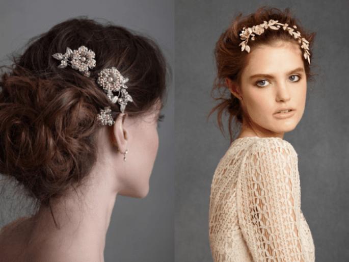 diademas y tocados para novias con estilo vintage On tocados con estilo