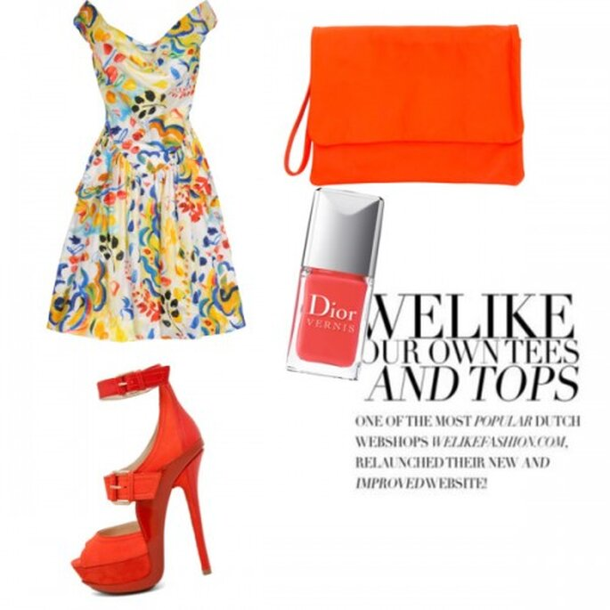 Vestido Vivienne Westwood, Zapatos Jimmy Choo, Bolso Jas MB, Esmalte de uñas Dior.