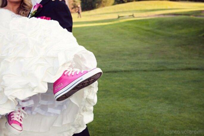 Calzado cómodo para la novia en la boda