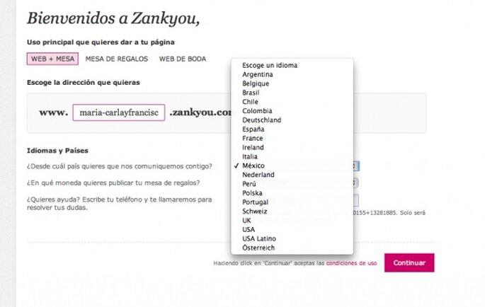 Выберите нужную вам страну, чтобы начать персонализировать ваш сайт.