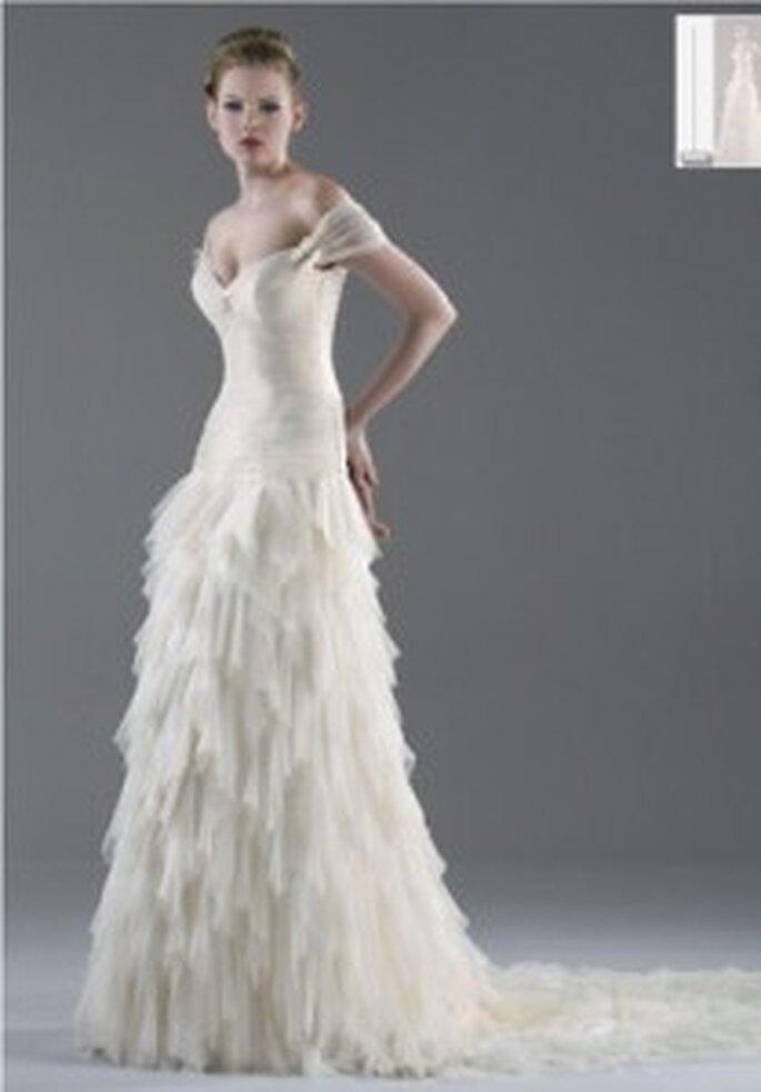 Vestido de novia - Esther Rodríguez - Vestido largo con volados