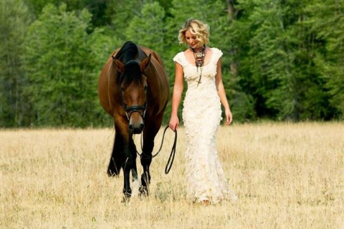 Estilo bohemio para una boda romántica - Foto Katherine Heigl Facebook