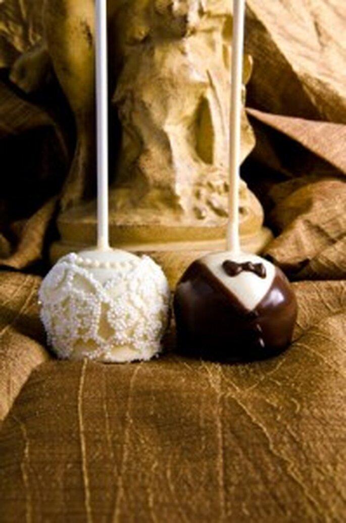 Detalle original: Chupa-Chups de chocolate.