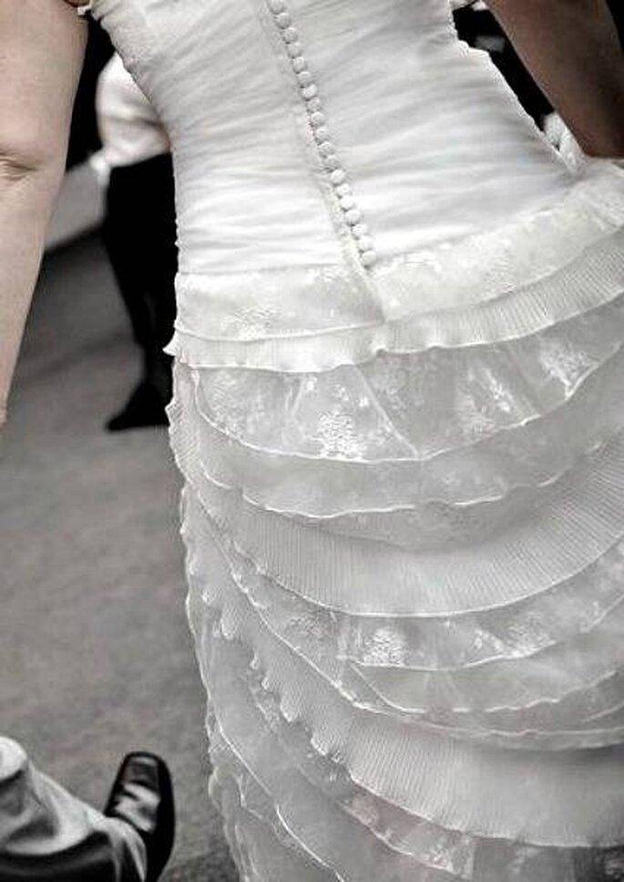 Robe de mariée à volants d'Angeles Tormo