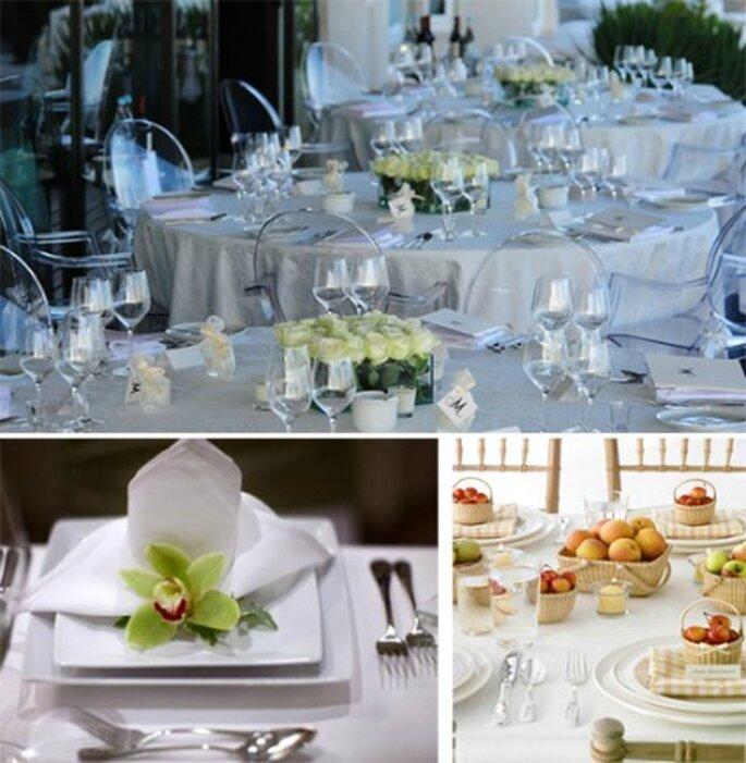 Decorar la boda en blanco es muy elegante