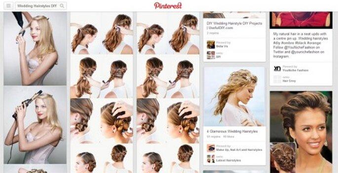 Tutoriales de peinados DIY para novias en Pinterest