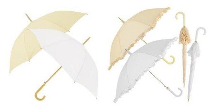 Paraguas delicados para novias
