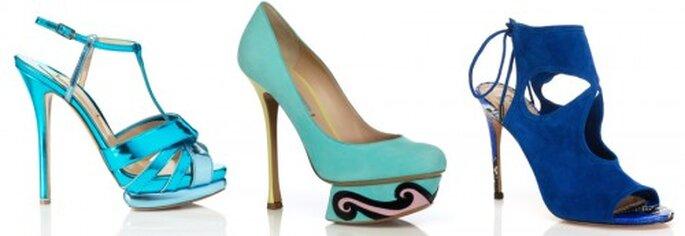 Zapatos de novia 2013 en color azul - Foto M'oda 'Operandi