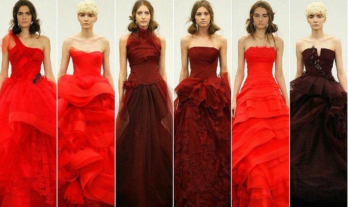 Vera Wang Bridal Collection 2013 tutta all'insegna del colore rosso!