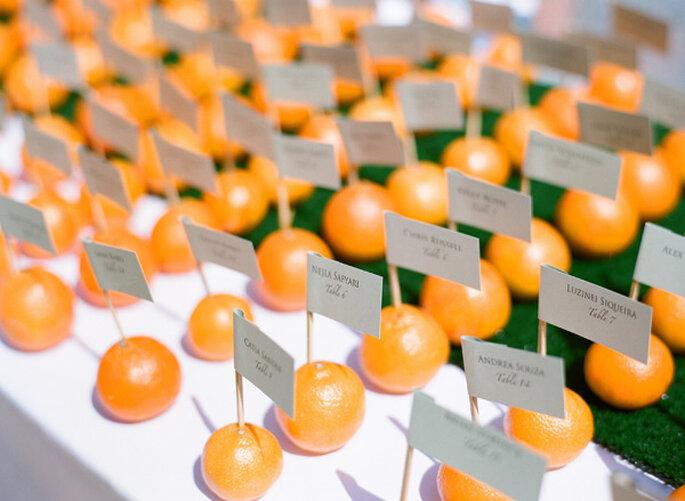 Idées pour décorer votre mariage avec des fruits - Photo Lane Dittoe