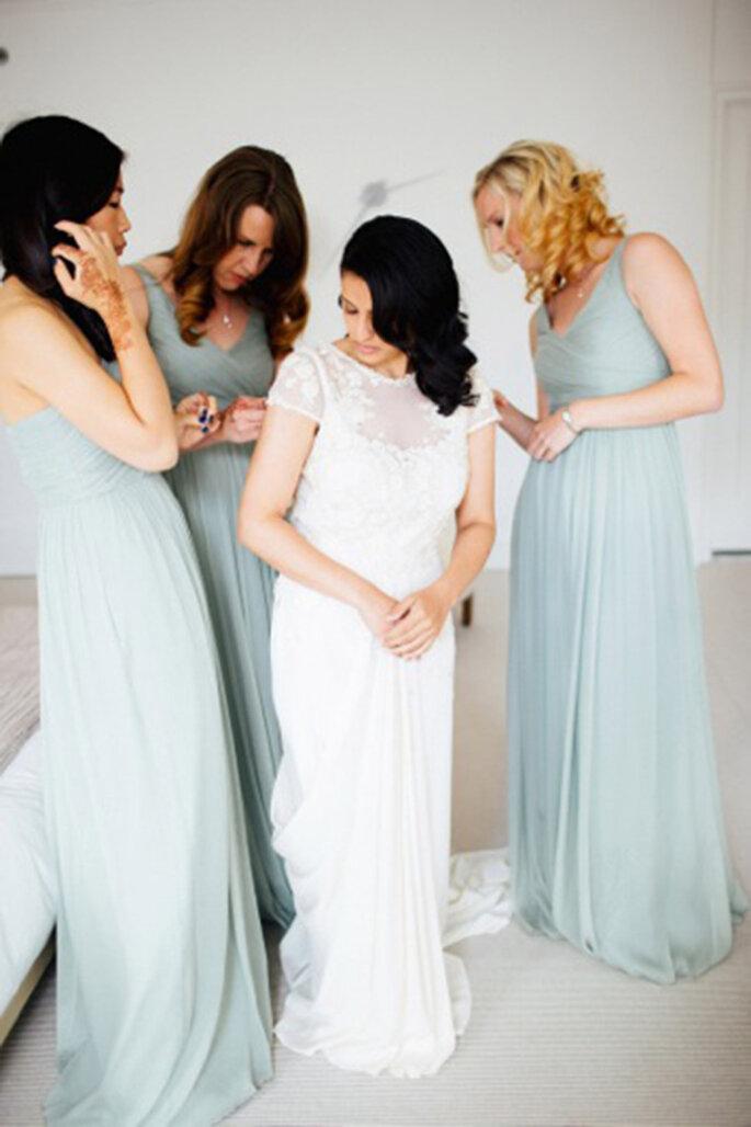 Damas de honor para la boda. Foto-Olivia Leigh Photographie