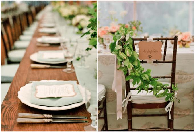 Decoraciones originales para las sillas del banquete de bodas - Lisa Lefkowitz