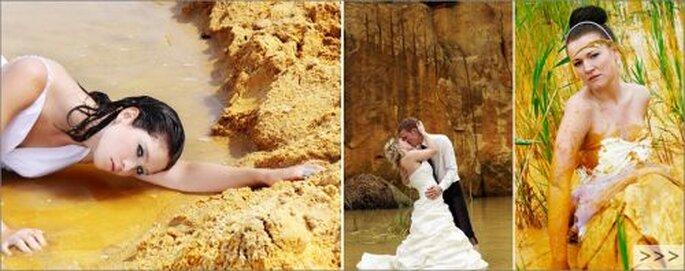 """Fantastische Hochzeitsfotos mit einer """"anderen"""" Braut! Foto: (c) Copyright Claudia Gallwitz - http://claudia-gallwitz.de"""