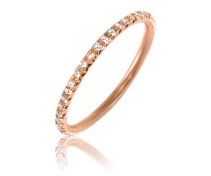 Alliance Malicieuse or rose tour complet de diamant - Adamence.com